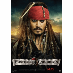 Pirates On Stranger Tides Mini Poster 11x17in Johnny Depp