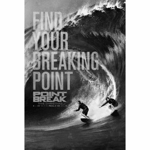 "Point Break Black and White Poster 24""x36"""
