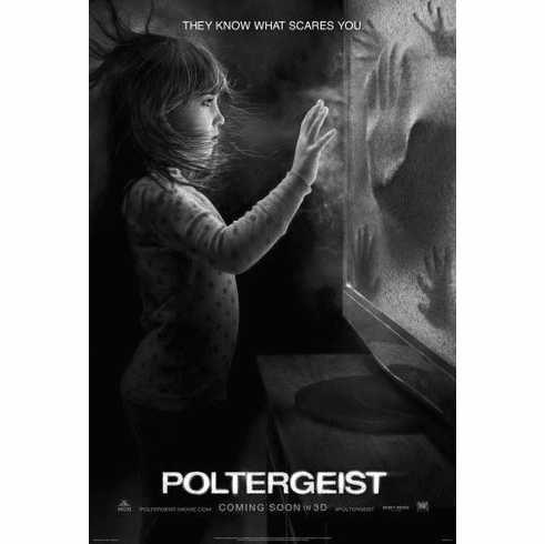 "Poltergeist Black and White Poster 24""x36"""