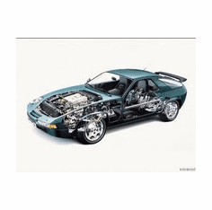 Porsche 928 Cutaway 8x10 photo