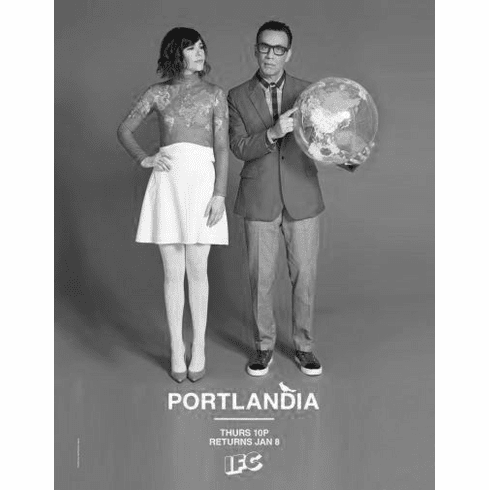 "Portlandia Black and White Poster 24""x36"""