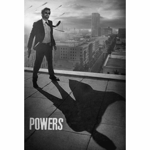 "Powers Black and White Poster 24""x36"""