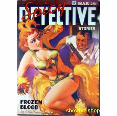 Pulp Fiction Novel Art Poster Spicy Detective Frozen Blood 24inx36in
