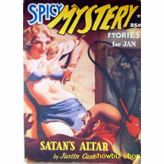 Pulp Fiction Novel Exploitation Art Poster Spicy Mystery Satan'S Altar 24inx36in