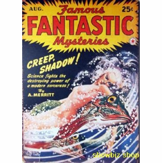 Pulp Novel Exploitation Art Famous Fantastic Mysteries 8x10 photo