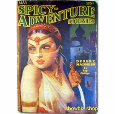 Pulp Novel Exploitation Art Spicy Adventure 8x10 photo