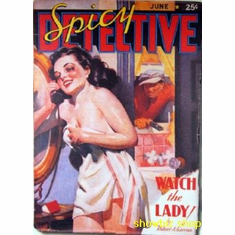 Pulp Novel Exploitation Art Spicy Detective Lady 8x10 photo