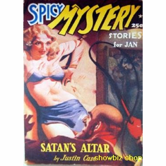 Pulp Novel Exploitation Art Spicy Mystery Satan'S Altar 8x10 photo