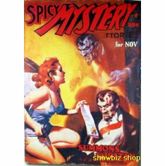 Pulp Novel Exploitation Art Spicy Mystery Summon Satan 8x10 photo
