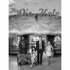 """Pushing Daisies Black and White Poster 24""""x36"""""""