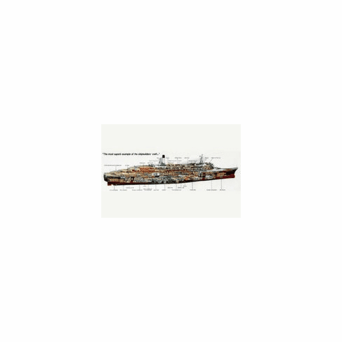Qe 2 Ship Cutaway Mini poster 11inx17in ocean liner