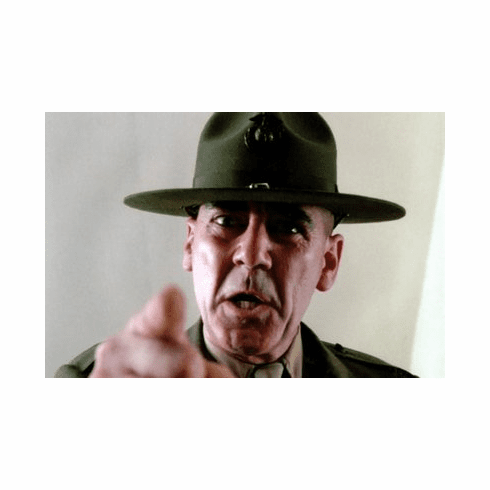 R Lee Ermey 8x10 photo master print #01Full Metal Jacket