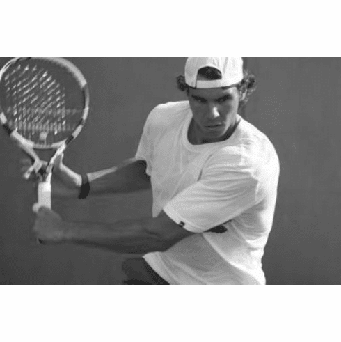 "Rafael Nadal Black and White Poster 24""x36"""