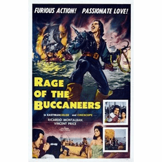 Rage Of The Buccaneers Movie Poster 11x17 Mini Poster