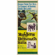 Raiders From Beneath The Sea 14x36 Insert Movie Poster