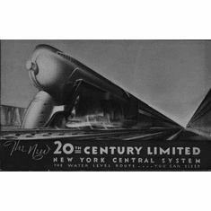 "Railroad 20Th Century Limited Railway Black and White Poster 24""x36"""