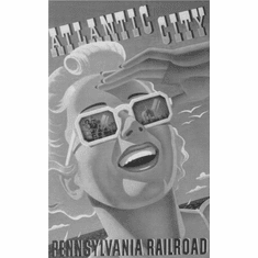 "Railroad Atlantic City 1940 Black and White Poster 24""x36"""