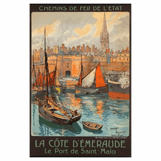 Railways French France Mini poster 11inx17in