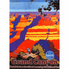 Railways Santa Fe Grand Canyon Poster 24in x36in
