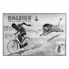 """Raleigh Bicycles Black and White Poster 24""""x36"""""""