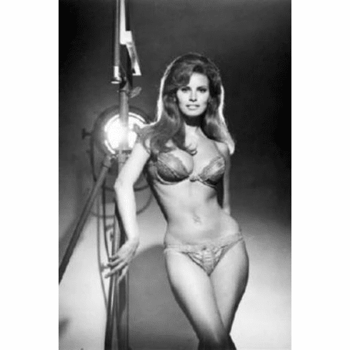 "Raquel Welch Black and White Poster 24""x36"""