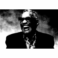 "Ray Charles Black and White Poster 24""x36"""