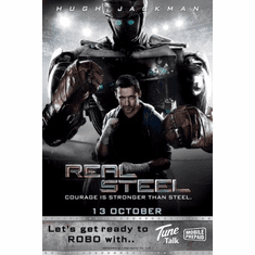 Real Steel Movie mini poster 11x17 #03