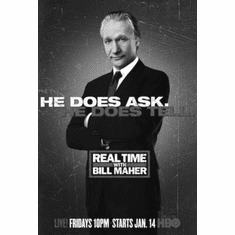 """Real Time With Bill Maher Black and White Poster 24""""x36"""""""
