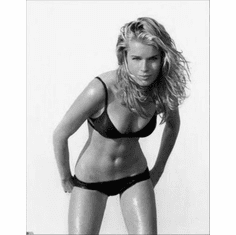 "Rebecca Romijn Black and White Poster 24""x36"""