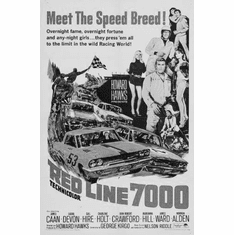"""Red Line 7000 Black and White Poster 24""""x36"""""""