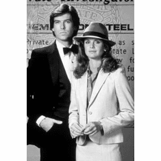 "Remington Steele Black and White Poster 24""x36"""
