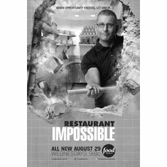 "Restaurant Impossible Black and White Poster 24""x36"""