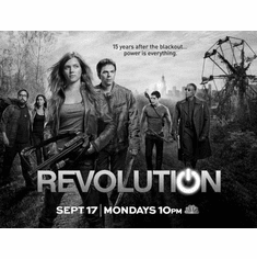 "Revolution Black and White Poster 24""x36"""