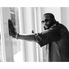 "Rick Ross Black and White Poster 24""x36"""