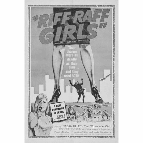 "Riff Raff Girls Black and White Poster 24""x36"""