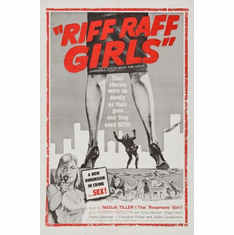 Riff Raff Girls Movie Mini poster 11inx17in