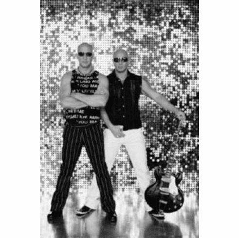 "Right Said Fred Black and White Poster 24""x36"""