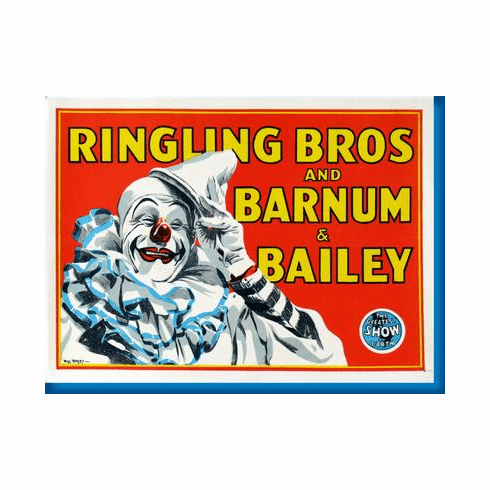 Ringling Bros. Circus Clown Poster 24inx36in