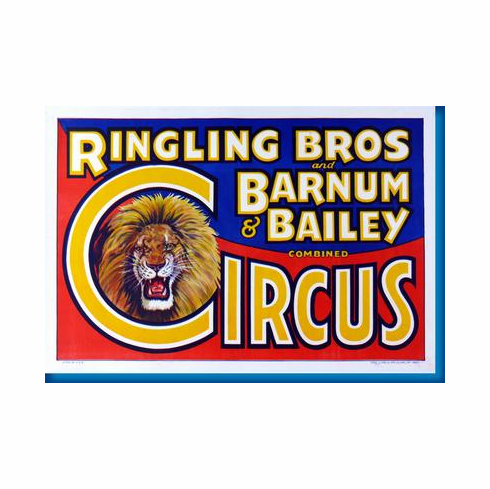 Ringling Bros. Circus Lion Poster 24inx36in
