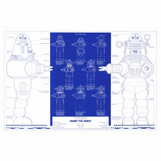 Robby The Robot Blueprint 11x17 Mini Poster