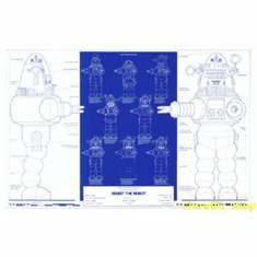 Robby The Robot Blueprint Poster 24inx36in