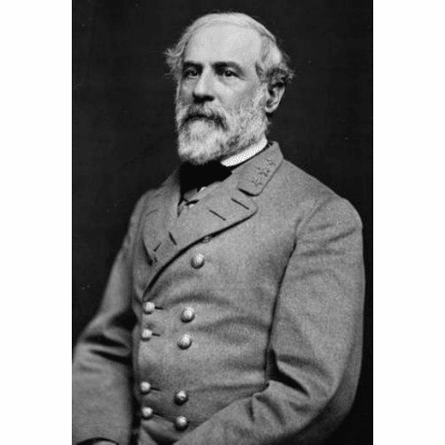 "Robert E Lee Black and White Poster 24""x36"""