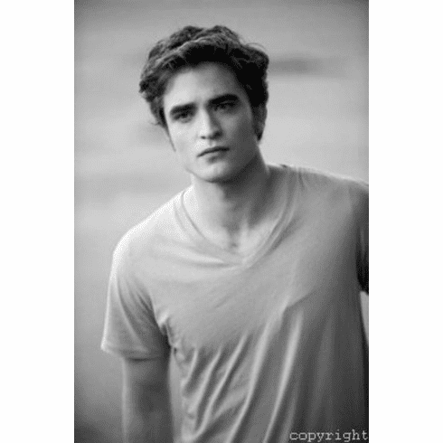 "Robert Pattinson Black and White Poster 24""x36"""