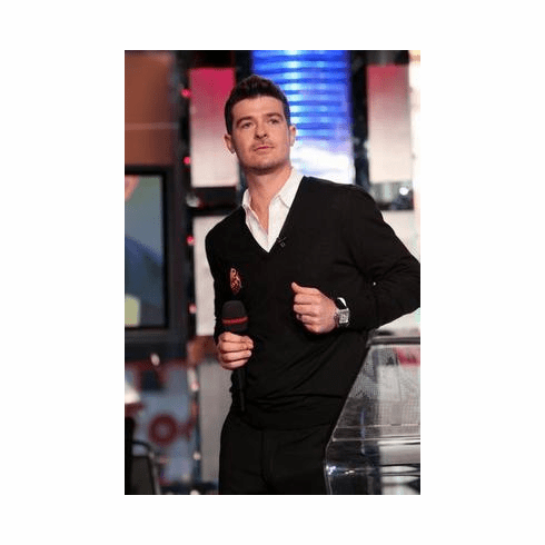 Robin Thicke Poster Black Jacket 24in x36 in