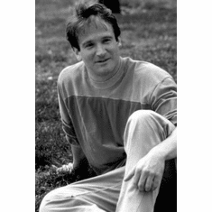 "Robin Williams Black and White Poster 24""x36"""