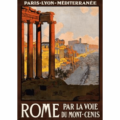 Rome Travel Art Poster 24in x36 in