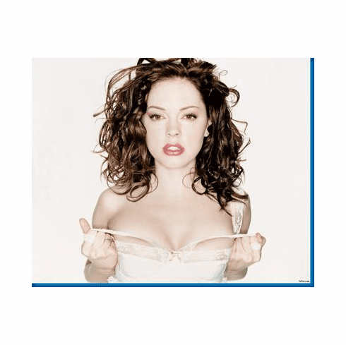 Rose Mcgowan In White Poster 24inx36in