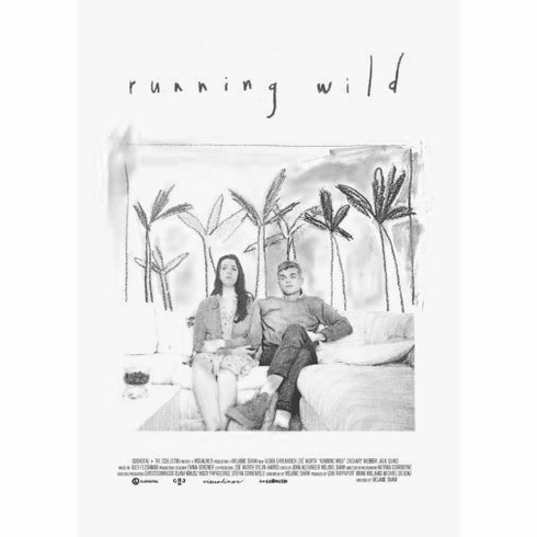 "Running Wild Black and White Poster 24""x36"""
