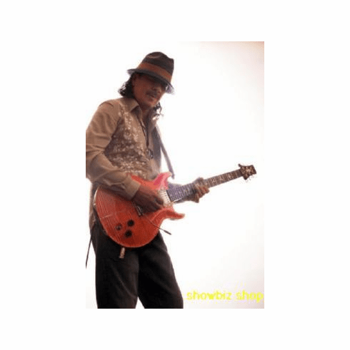 Santana Poster Playing Guitar 24inx36in