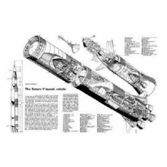 Saturn 5 Cutaway Art 8x10 photo Master Print